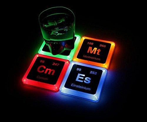 Radioactive Elements Glowing Coaster Set Crazygeektoys